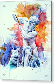 Neptune Piazza Navona  Acrylic Print