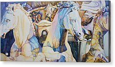 Neptune's Sea Horses - Florence Acrylic Print