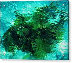 Neptune's Shadow Acrylic Print by Kim Lessel