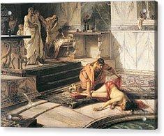 Nero And Agrippina Acrylic Print by Antonio Rizzi