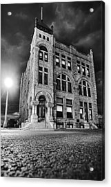 Ness County Bank Acrylic Print by Thomas Zimmerman