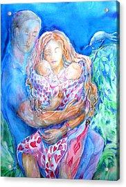 Nesting Pair  Acrylic Print by Trudi Doyle