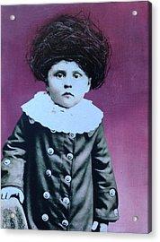 Nesting Series Purple Boy Acrylic Print by Susan McCarrell