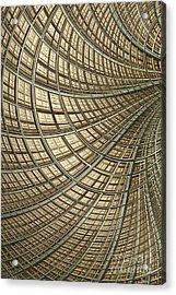Network Gold Acrylic Print by John Edwards