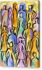 Network Acrylic Print by Leon Zernitsky