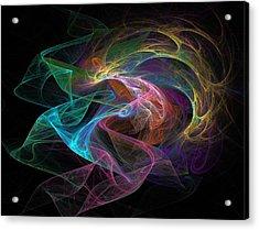 Neural Transmission Acrylic Print by Barroa Artworks