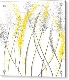 Neutral Sunshine - Yellow And Gray Modern Art Acrylic Print