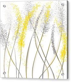 Neutral Sunshine - Yellow And Gray Modern Art Acrylic Print by Lourry Legarde