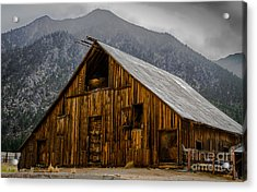 Nevada Barn Acrylic Print by Mitch Shindelbower