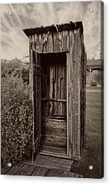 Nevada City Ghost Town Outhouse - Montana Acrylic Print by Daniel Hagerman