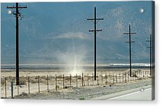 Nevada Dust Devil Acrylic Print