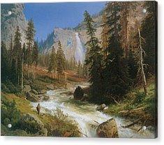 Nevada Fall Yosemite Acrylic Print by Herman Herzog