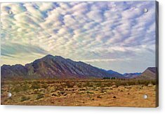 Acrylic Print featuring the painting Nevada Gold by Steven Richardson