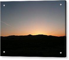 Nevada Sunset Acrylic Print by Amy Ernst
