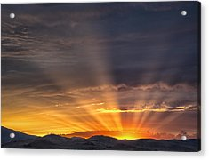 Nevada Sunset Acrylic Print