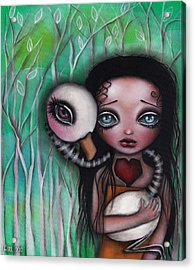 Never Alone Acrylic Print by  Abril Andrade Griffith