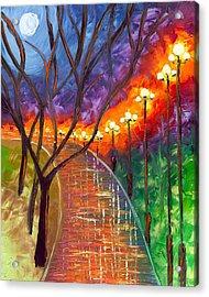 Never Alone Acrylic Print by Jessilyn Park