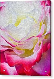 Acrylic Print featuring the digital art Never Ending Layers by Kenneth Montgomery