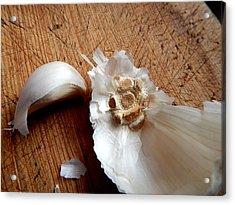 Never Enough Garlic Acrylic Print by Aliceann Carlton