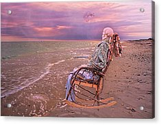 Never Let Fear Decide Your Fate Acrylic Print by Betsy Knapp