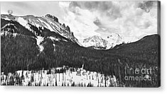 Never Summer Wilderness Area Panorama Bw Acrylic Print by James BO  Insogna
