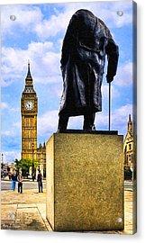Never Surrender - London Landmarks Acrylic Print by Mark E Tisdale
