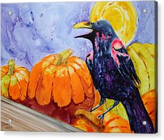 Nevermore Acrylic Print by Nancy Jolley