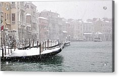 Nevica 3 Acrylic Print by Izabella V?gh