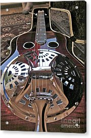 New 6 String Guitar Acrylic Print