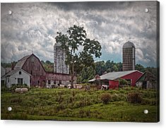 New And Old Barn Acrylic Print