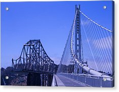 New And Old Bay Bridge Acrylic Print