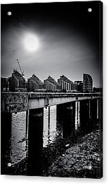 New Apartments Near Battersea Acrylic Print by Lenny Carter