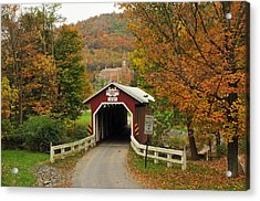 New Baltimore Covered Bridge Acrylic Print