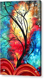New Beginnings Original Art By Madart Acrylic Print by Megan Duncanson