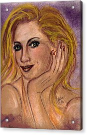 New Blond Acrylic Print by Desline Vitto