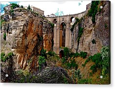Acrylic Print featuring the photograph New Bridge by HweeYen Ong