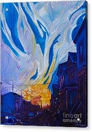 New Brunswick Sunset Acrylic Print by Michael Ciccotello