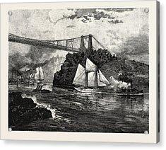 New Brunswick, Suspension Bridge Acrylic Print