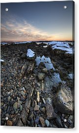 New Castle Dawn Acrylic Print by Eric Gendron