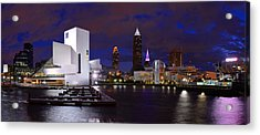 New Cleveland Waterfront With Storm Clouds Acrylic Print