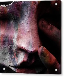 New Colours In Tears  Acrylic Print by Jerry Cordeiro