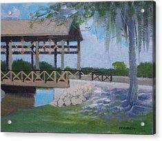 New Covered Bridge Acrylic Print by Robert Rohrich