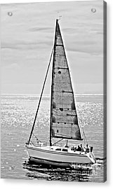 New Dawn - Sailing Into Calm Waters Acrylic Print by Artist and Photographer Laura Wrede