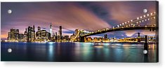 New Dawn Over New York Acrylic Print