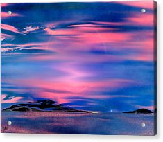 Acrylic Print featuring the painting New Dawn by Yul Olaivar
