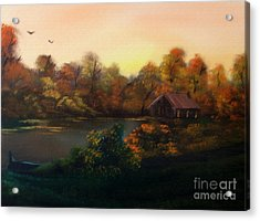 New Day In Autumn Sold Acrylic Print by Cynthia Adams