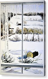 New Day New Snow Acrylic Print