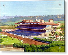 New Del Mar Racetrack Acrylic Print by Mary Helmreich