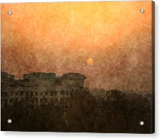 New Delhi Sunset Acrylic Print