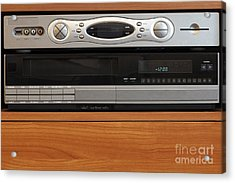 New Dvr With Old Vcr Acrylic Print by Lee Serenethos